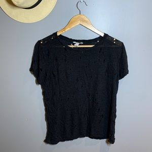 Distressed Black XXI Forever 21 T-Shirt size:M